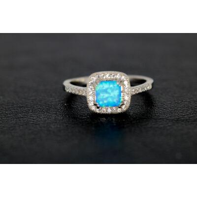 Mesekék opál ezüst gyűrű