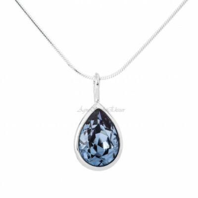 Swarovski csillogó kék köves ezüst medál