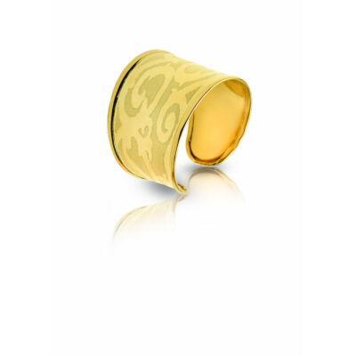 Állítható sárga arany mintás gyűrű