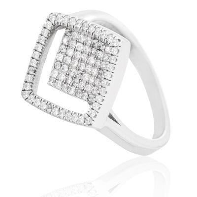Geometrikus vonalvezetésű ezüst női gyűrű