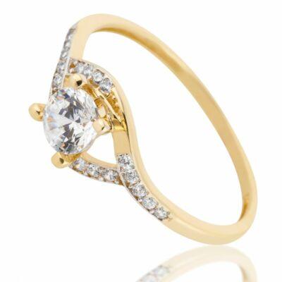 14 Karátos női köves gyűrű