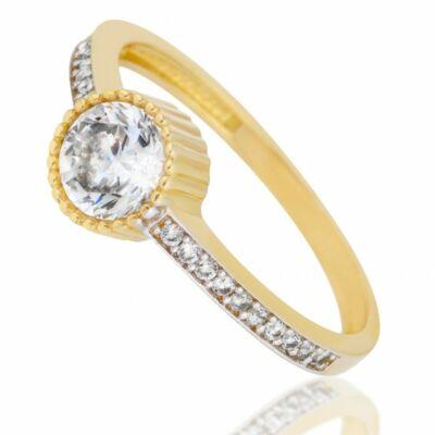 Női sárga arany köves gyűrű