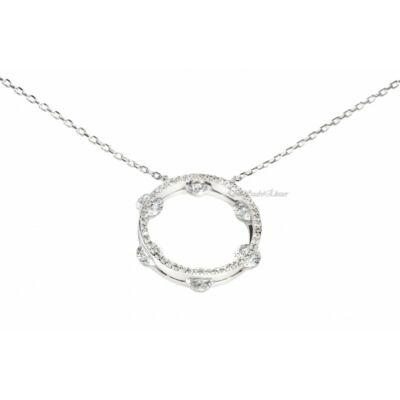 Cirkónia köves női ezüst lánc