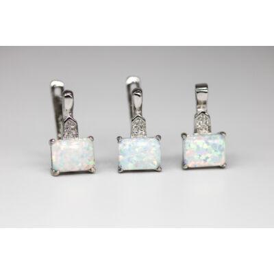 Szivárványszínű opál köves ezüst szett