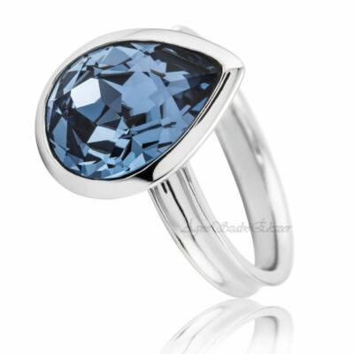 Egy csepp a tengerben Swarovski kék köves gyűrű