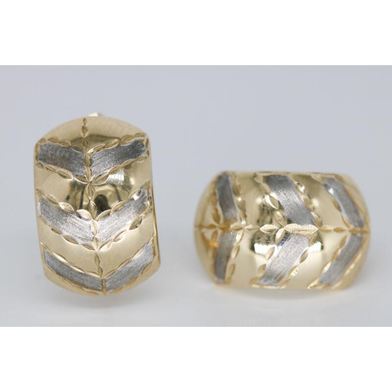 Arany patent záras fülbevaló