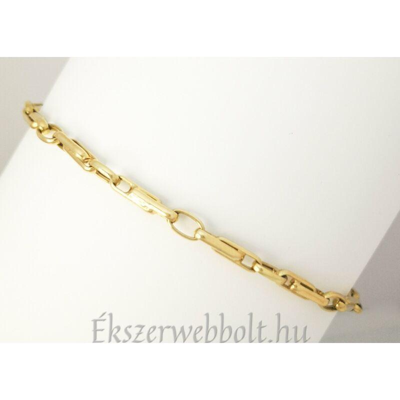 Egyedi mintázatú 14 karátos arany férfi karkötő
