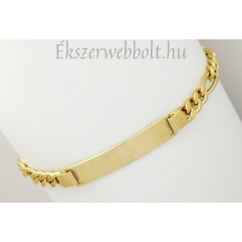 Lapbetétes figaro férfi 14 karátos arany karlánc