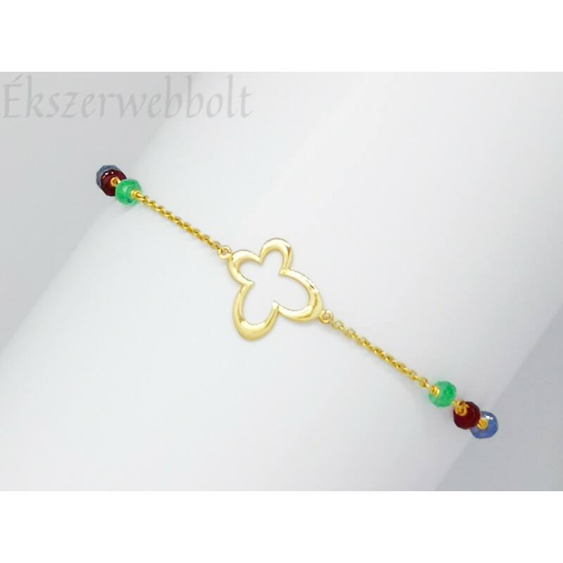 Charme-os köves díszítésű arany karkötő