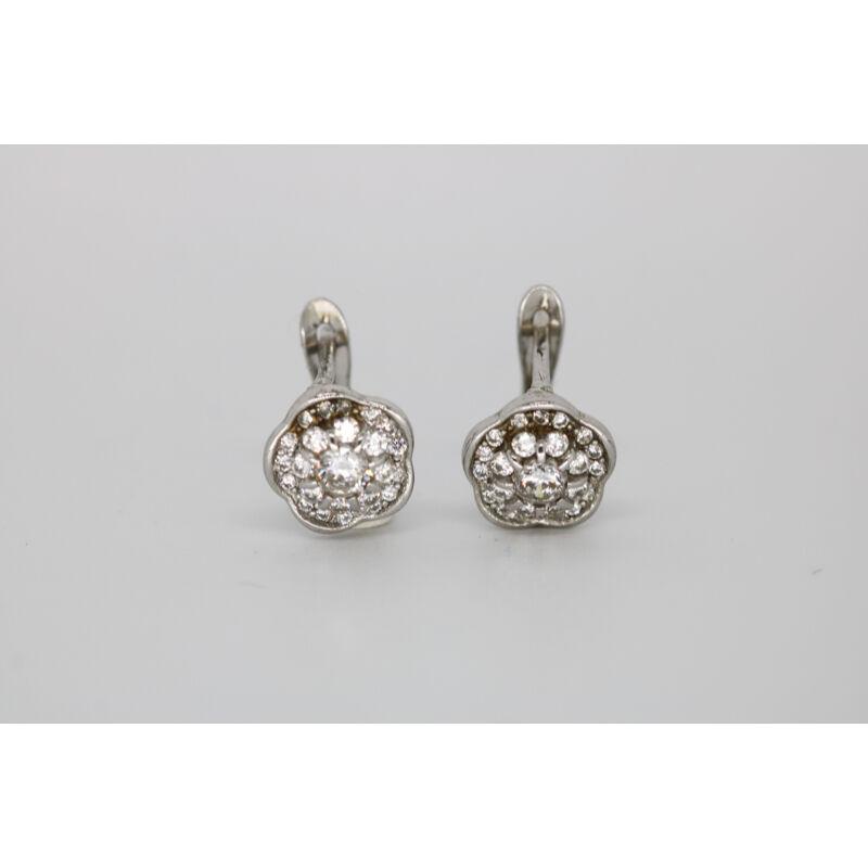 Microfogalású ezüst cirkónia kövekkel díszített fülbevaló