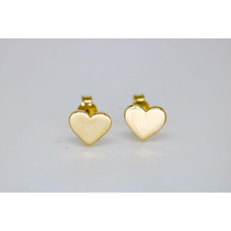 Arany szív fülbevaló