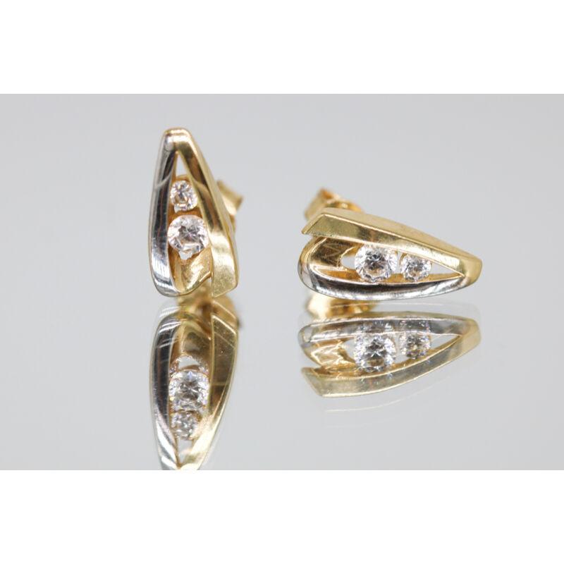 különleges köves arany beszúrós fülbevaló