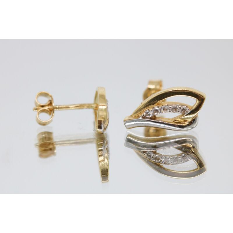 Elragadó köves arany beszúrós fülbevaló