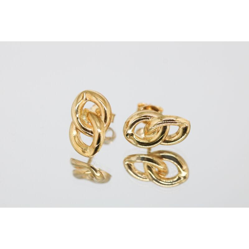 különleges formájú arany beszúrós fülbevaló