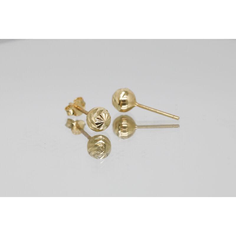 Vésett 14 karátos arany beszúrós fülbevaló