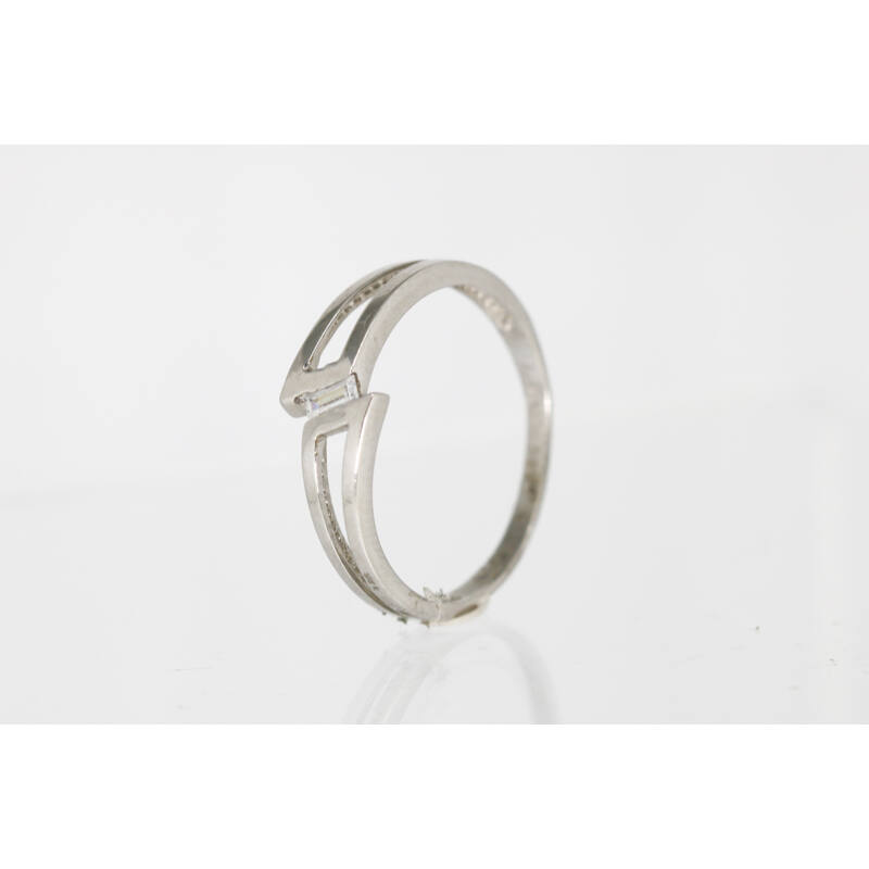 Elbűvölő cirkónia köves fehérarany eljegyzési gyűrű