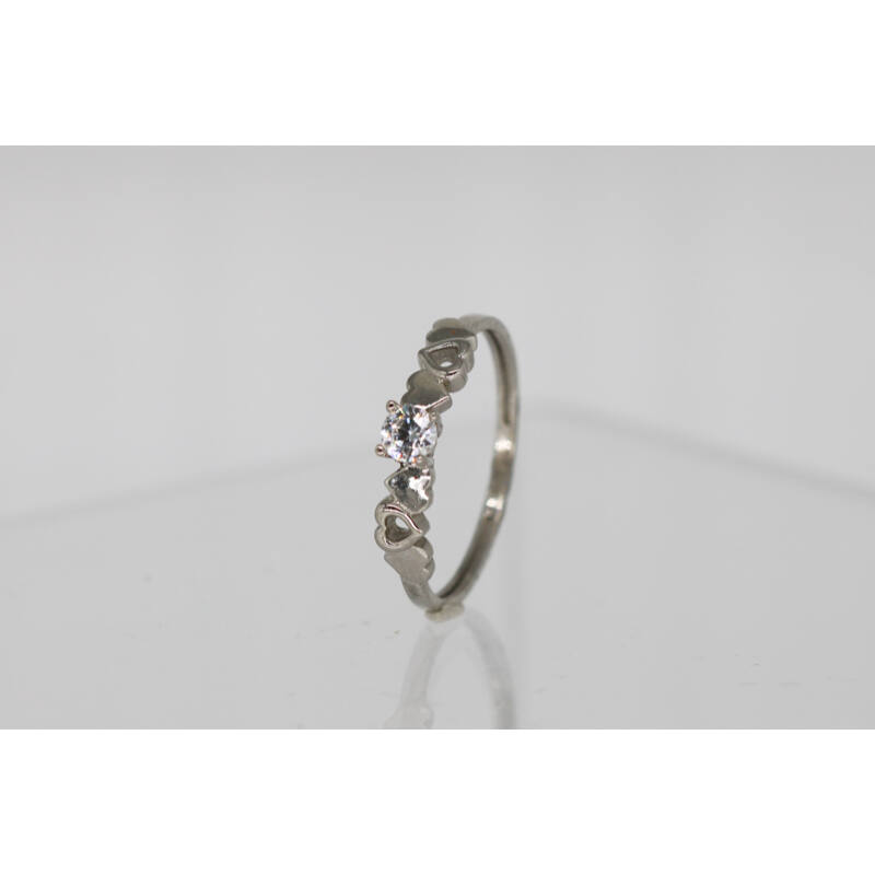 Bájos fehérarany eljegyzési gyűrű