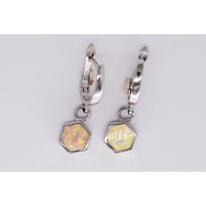 szivárvány opalit fülbevaló