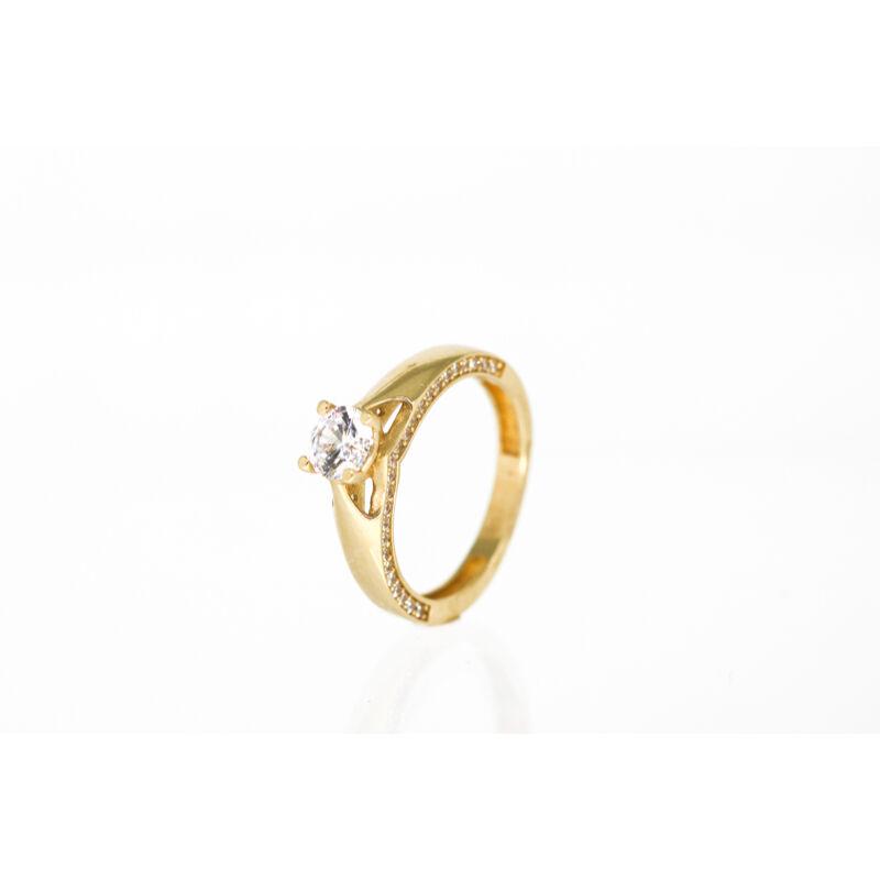 Meseszép arany eljegyzési gyűrű