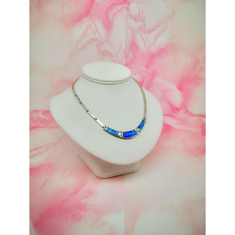 elűvölő kék opál köves  ezüst nyakék