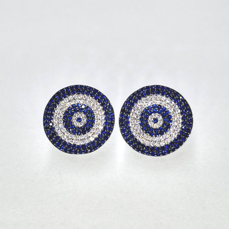 Kék köves fülbevaló
