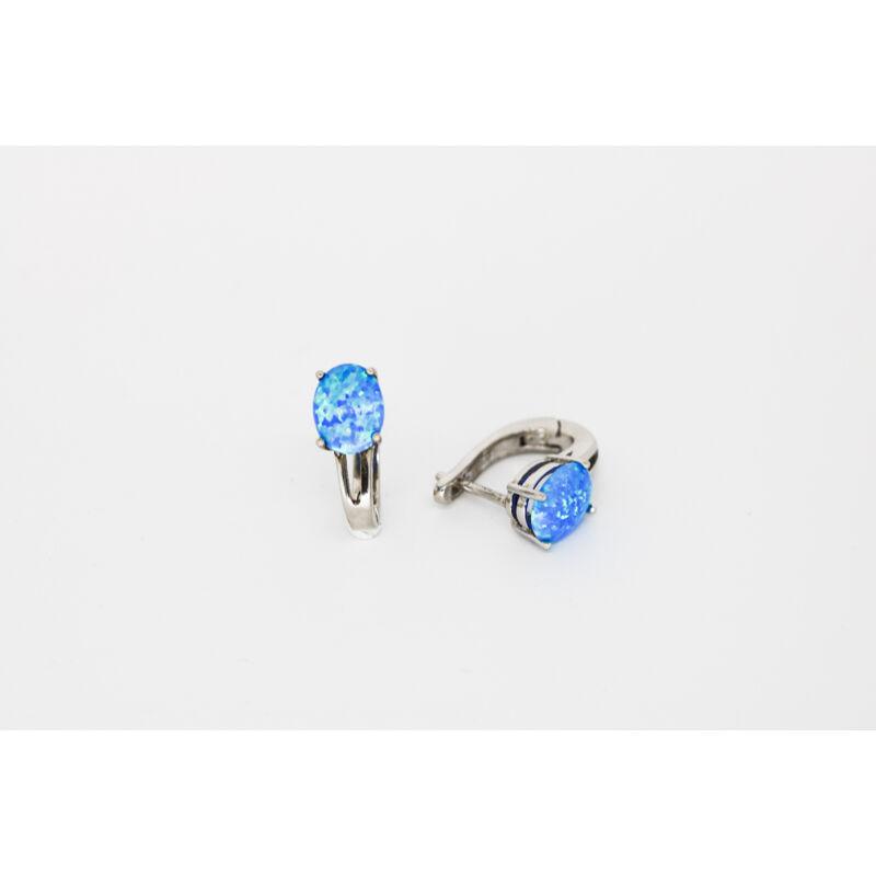 Különleges kék opál köves ezüst fülbevaló