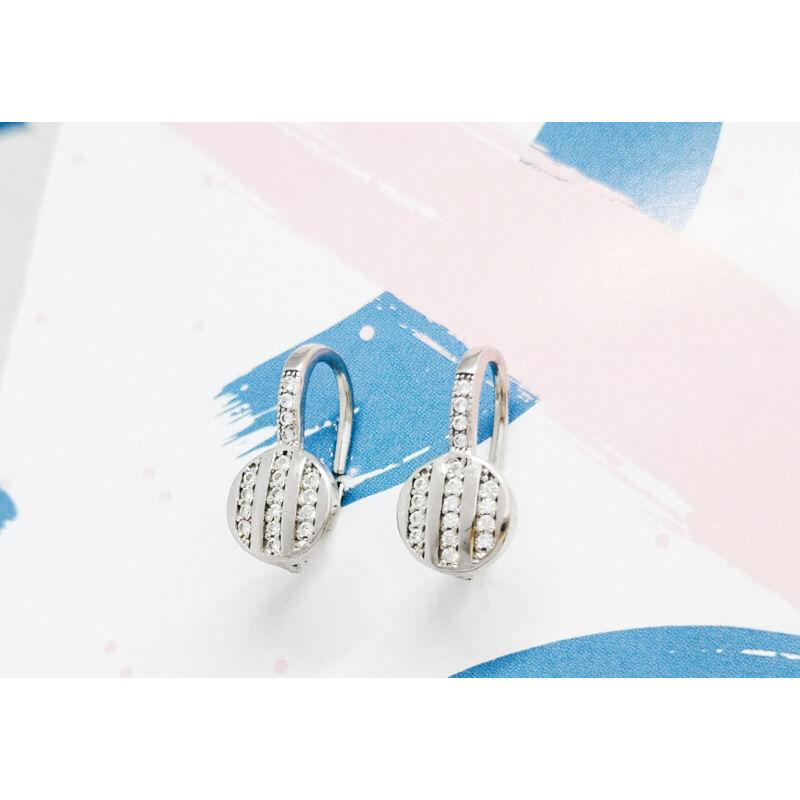 elegáns köves ezüst fülbevaló