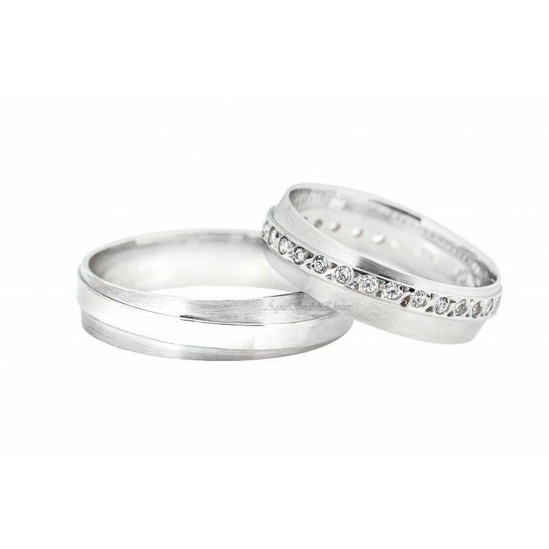14 Karátos fehérarany karikagyűrű