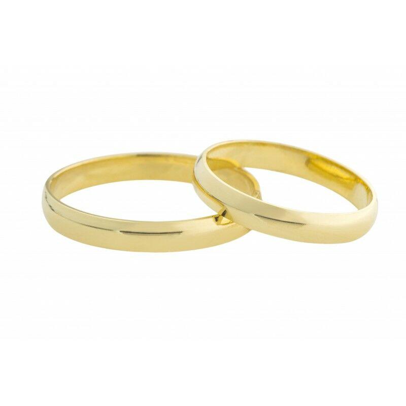 14 Karátos hagyományos fazonú sárga arany karikagyűrű