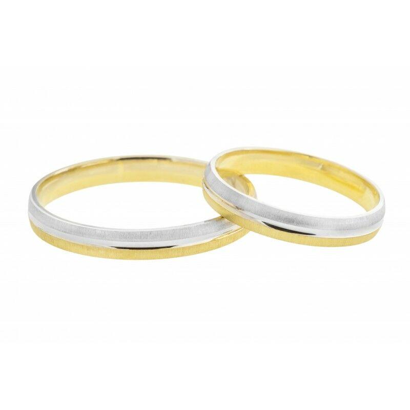 Fényes és matt felületű keskeny karikagyűrű