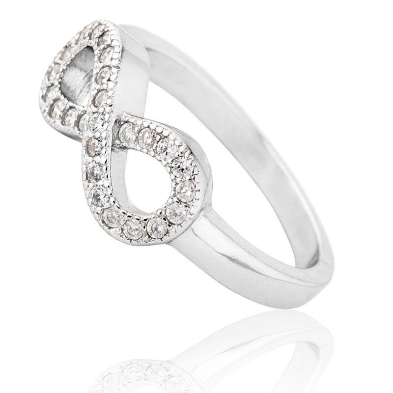 Végtelen jelű köves ezüst gyűrű
