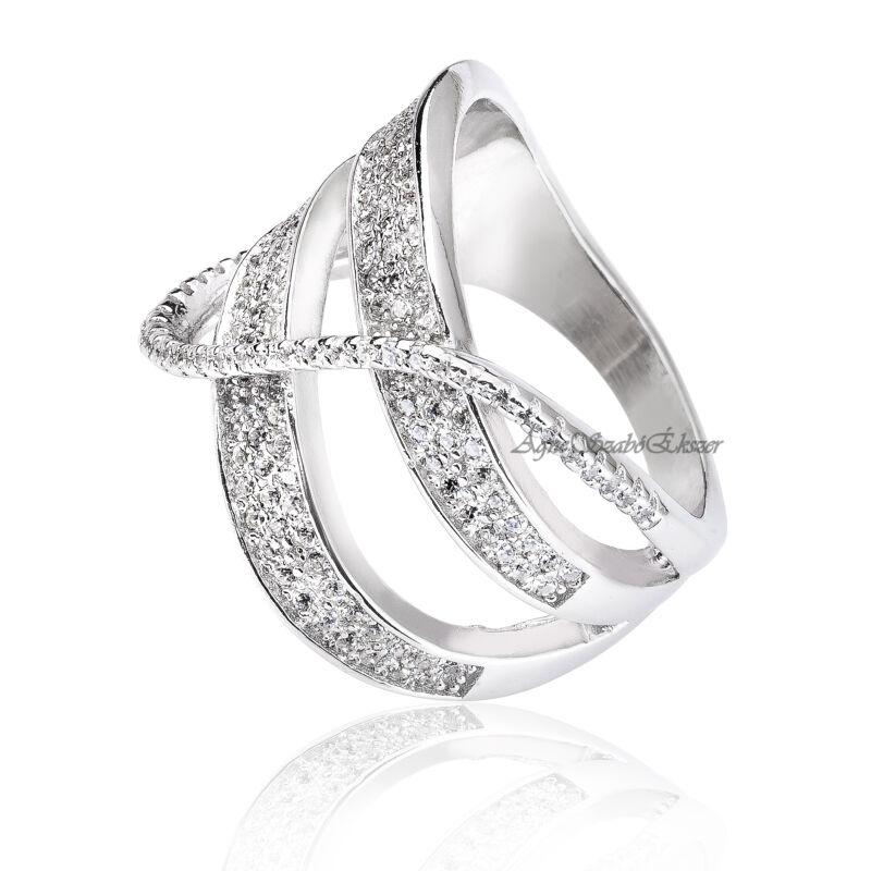 Extravagáns női ezüst gyűrű