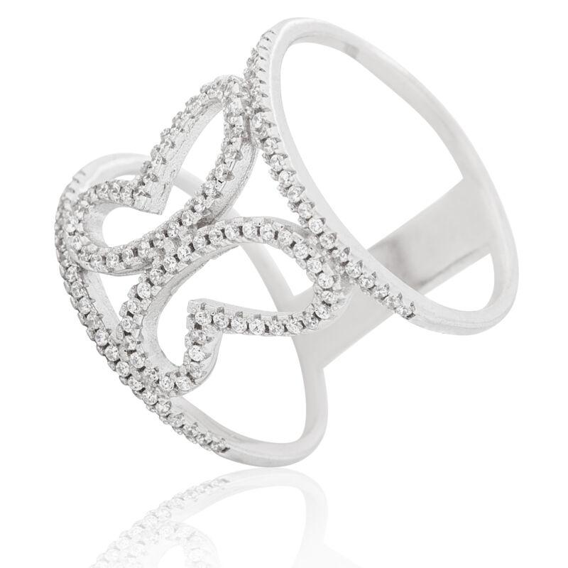 Ezüst gyűrű Pillangó kisasszonyoknak