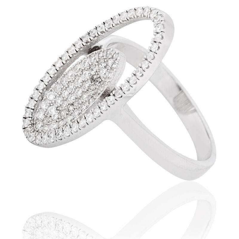 Ezüst gyűrű sok-sok apró cirkónia kővel, ami önmagában egy csoda