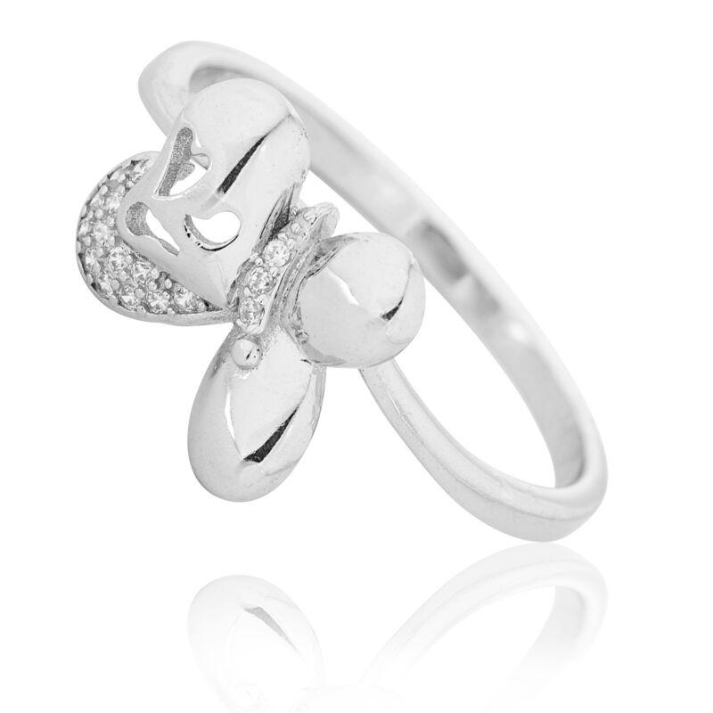 Pillangós ezüst gyűrű cirkónia kövekkel