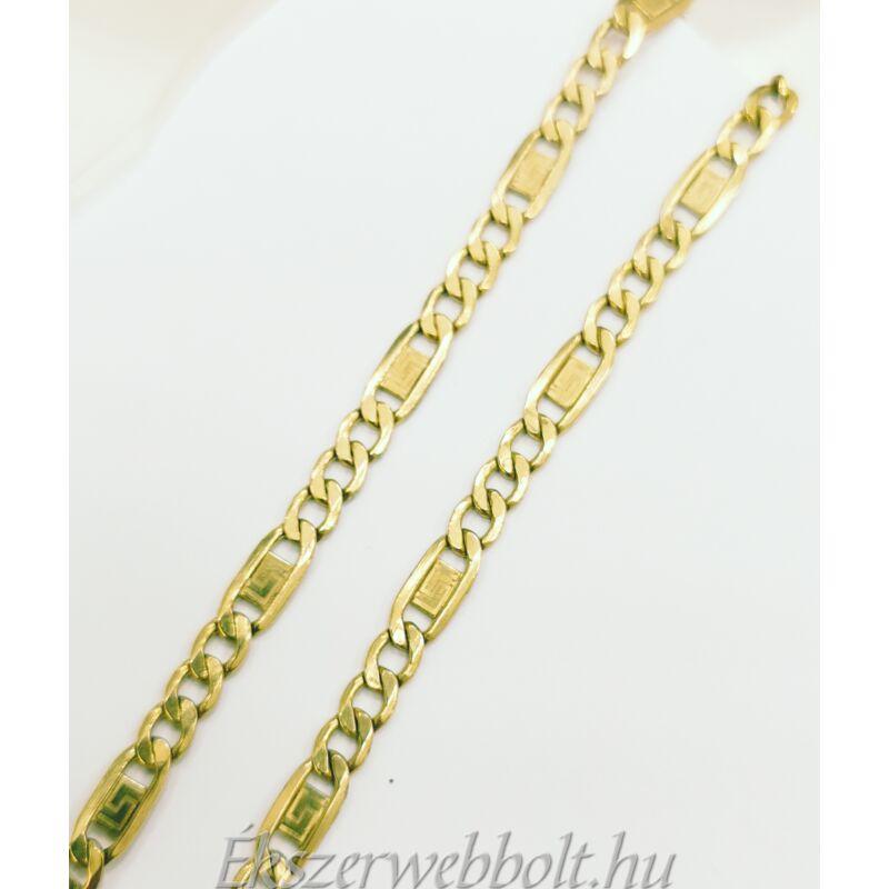 14 karátos figaro arany nyaklánc