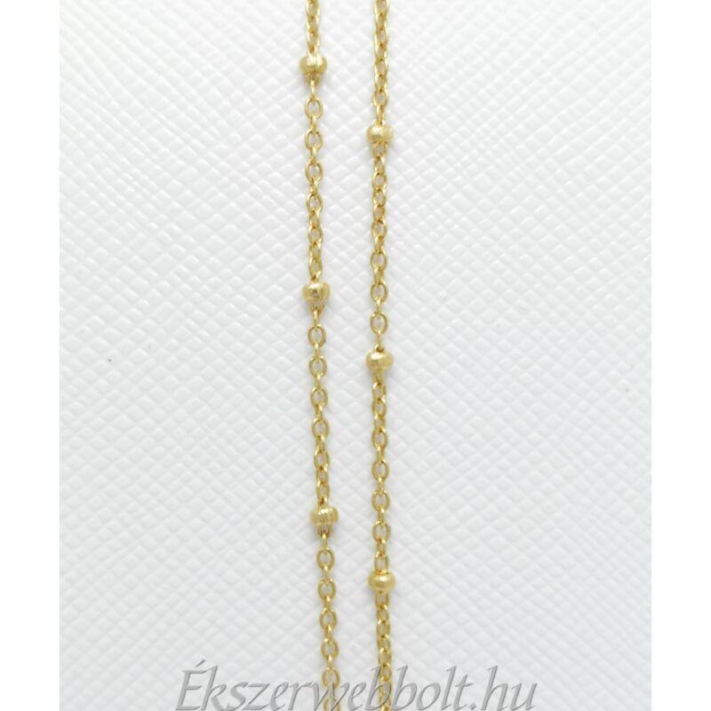 Egyedi betétes anker arany lánc