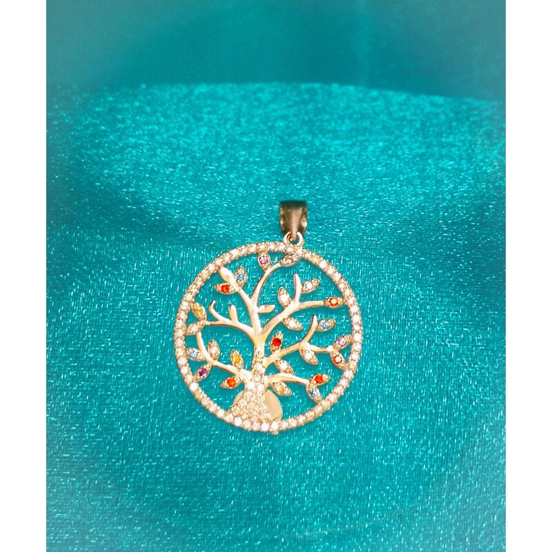 Ezüst Életfa medál kövekkel