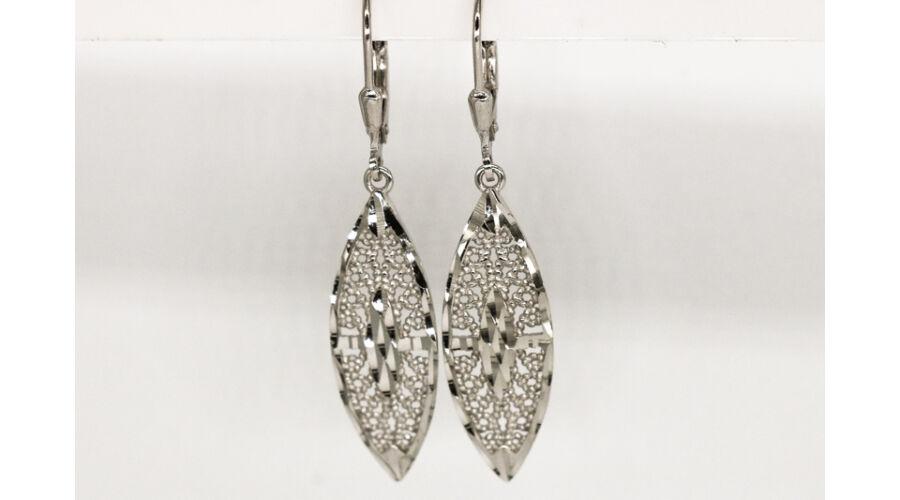 nagyon kényelmes tornacipő új magas Csiszolt ezüst női lógós fülbevaló - Ezüst