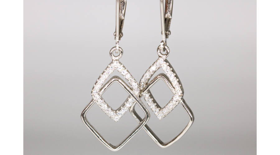Egyesült Királyság outlet butik cipő eladása Klasszikus lógós fülbevaló - Ezüst